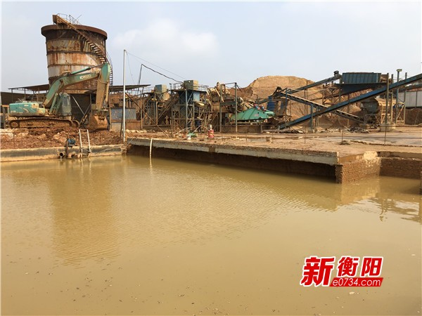 環保督察整改:衡東縣某洗沙場整改加裝環保設備