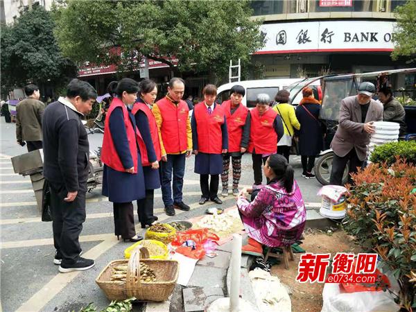"""""""勞耕市場""""一抹紅 司前社區""""衡陽群眾 """"暖人心"""