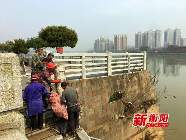 衡阳城区3处一级饮用水保护区隔离护栏提标改造