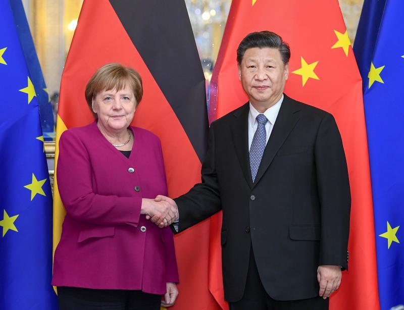 习近平会见德国总理