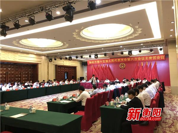 衡阳市十五届人大六次会议举行主席团第三次会议
