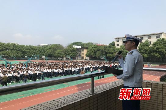 雁峰大队深入成章实验中学开展消防安全知识教育