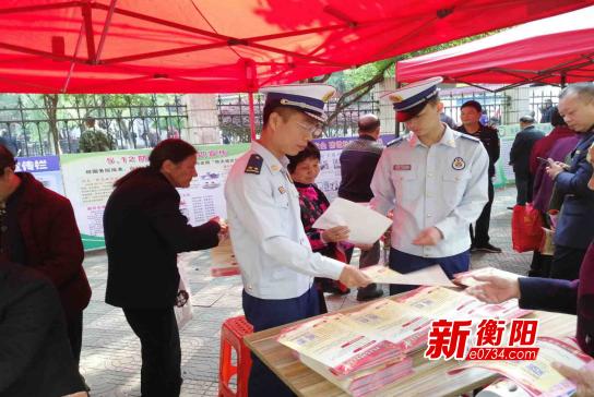 """提高消防意識 祁東大隊開展""""5.12""""防災減災宣傳"""