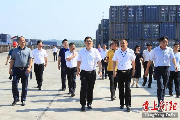 鄧群策:堅持大開放大融合 規劃建設好衡陽鐵路口岸