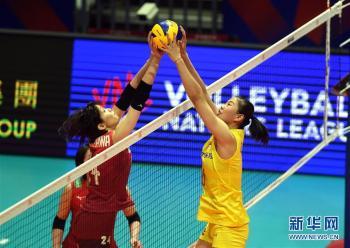 世界女子联赛香港站:中国胜日本