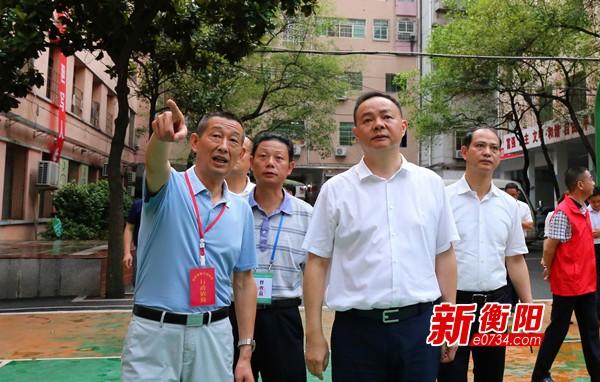 衡陽市領導率隊深入各城區暗訪檢查創衛工作