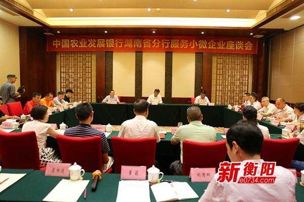 农发行湖南省分行在衡阳举行服务小微企业座谈会