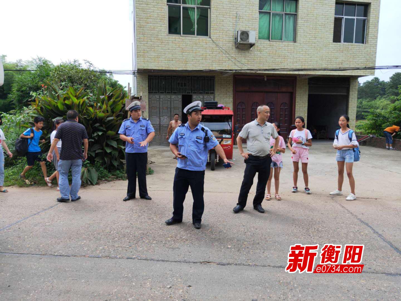 衡阳县三湖镇持续开展学校交通安全联合整治行动