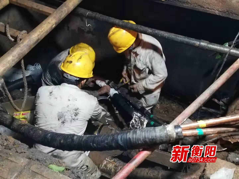 国网衡阳配电检修公司全力抢险 力保市民供电正常
