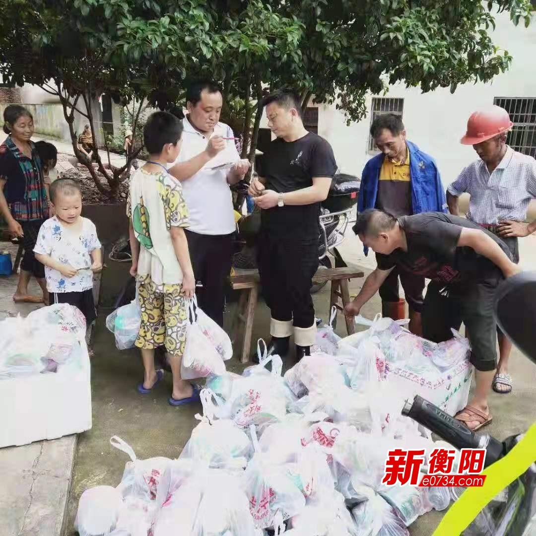 洪水崩堤倒灌 蒸湘区民政局及时支援受灾群众