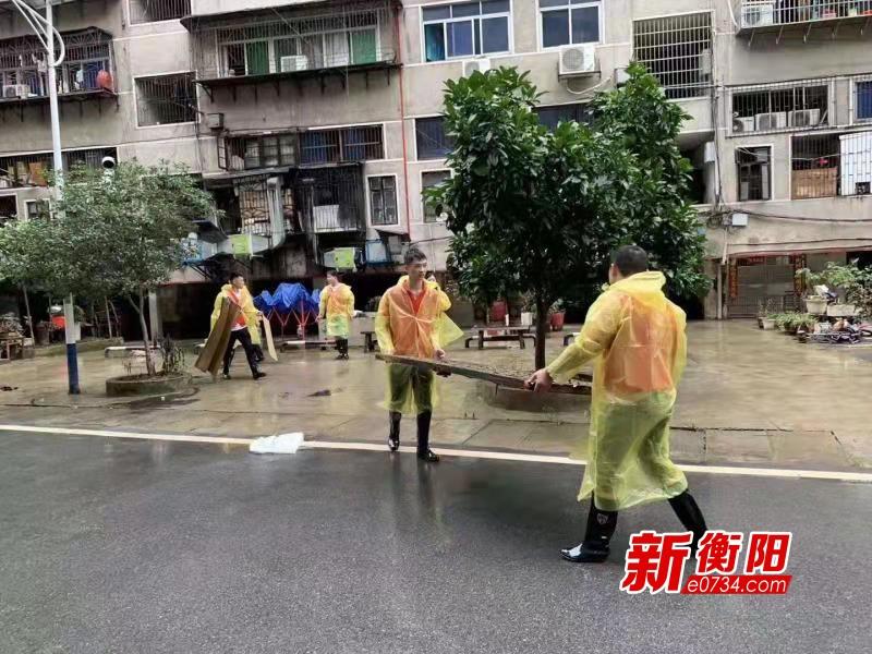 """雁峰區""""衡陽群眾""""青年突擊隊參與災后恢復工作"""