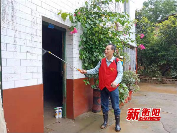 """雁峰区组织""""衡阳群众""""志愿者开展灾后防疫工作"""