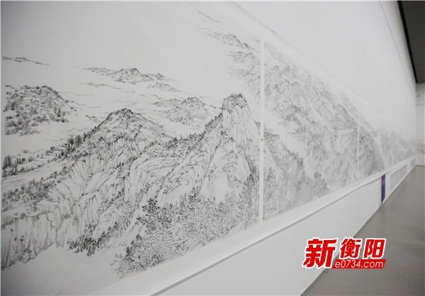 《锦绣潇湘·?#26174;?#34913;山七十二峰图》将进京参加全国美展