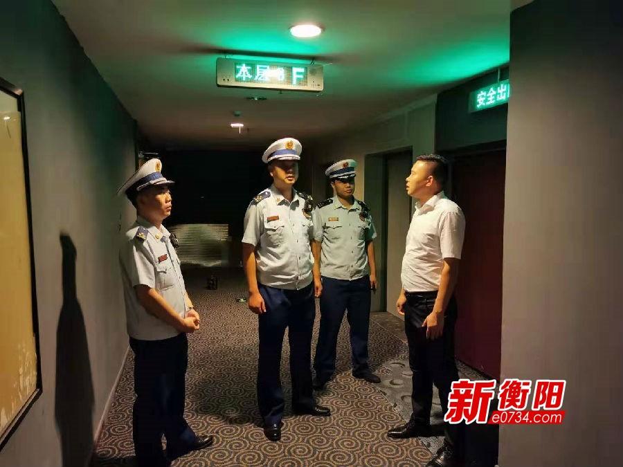 """確保單位消防安全 常寧大隊開展國慶""""夜查""""行動"""