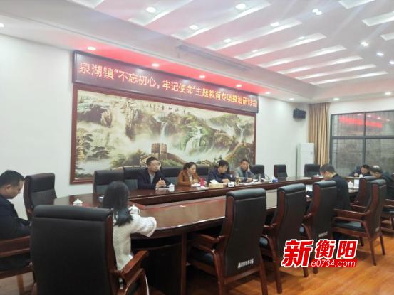 衡南泉湖鎮以群眾滿意為目標開展主題教育專項整治