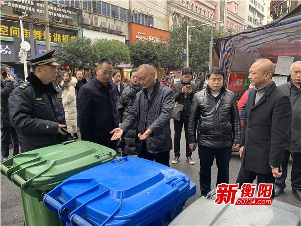 衡陽市政協派駐民主監督小組視察城市管理工作