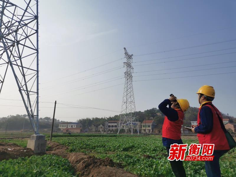 国网衡阳输电检修公司利用无人机开展新建线路验收