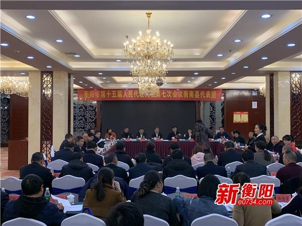 段志刚参加市十五届人大七次会议衡南县代表团审议