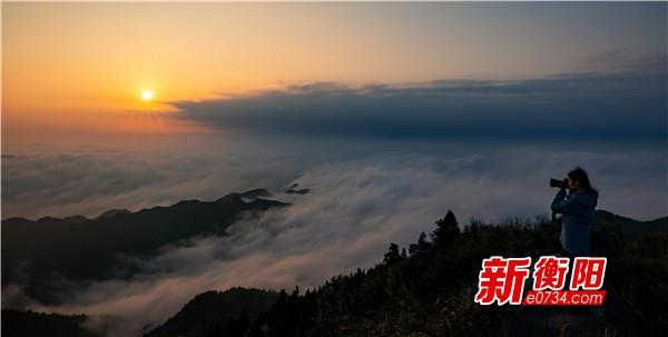 天下美景看南岳:仙境一般!南岳衡山再现云海美景