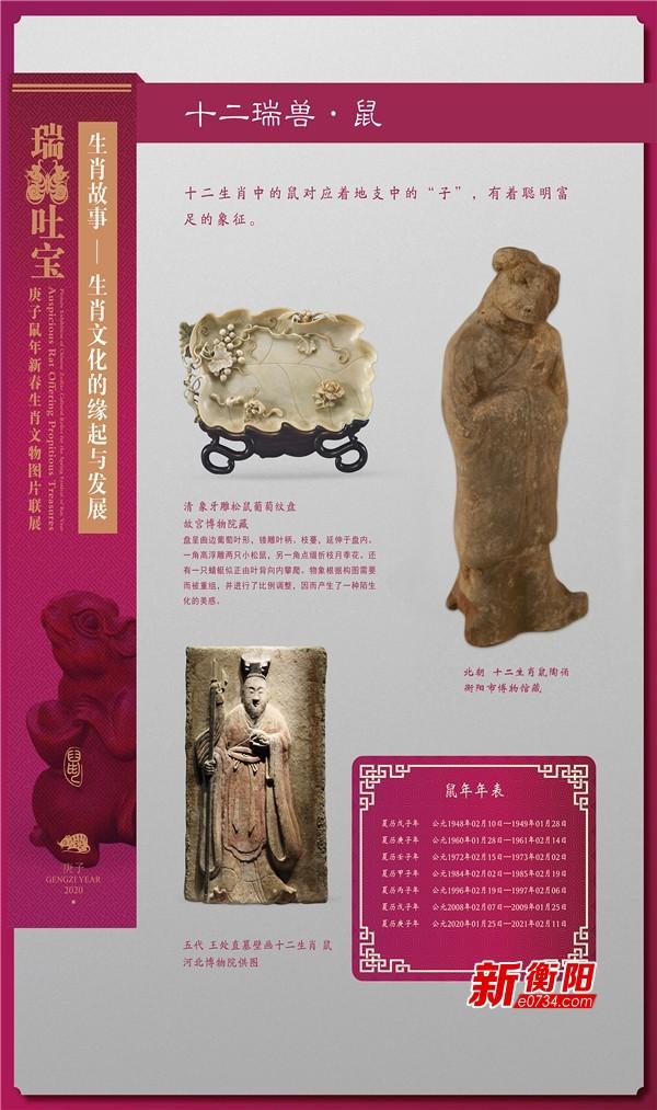 衡陽博物館推出庚子鼠年新春生肖文物圖片聯展