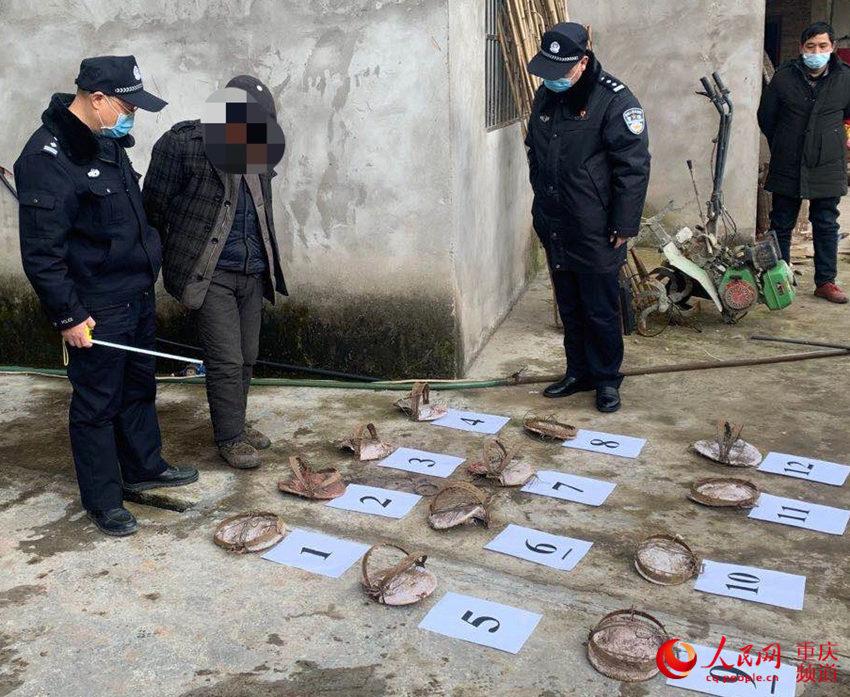 重庆警方收缴非法猎捕野生动物2400余只