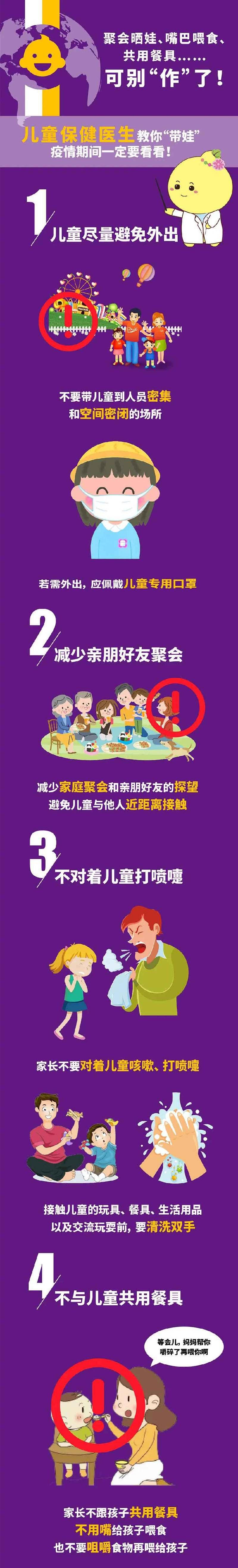 儿童保健医生的10条建议,疫情期间要注意!