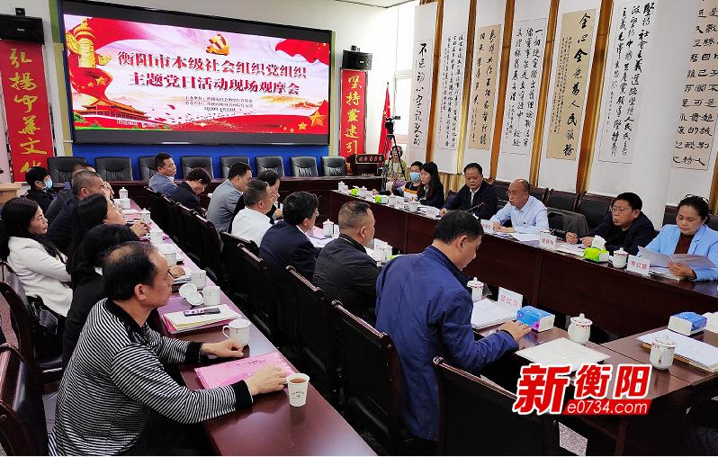 """衡阳市举行社会组织党组织首个""""轮值制""""主题党日观摩会"""