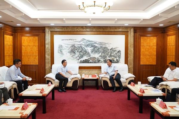 朱健會見華為公司董事彭中陽  共探衡陽數字經濟建設之路