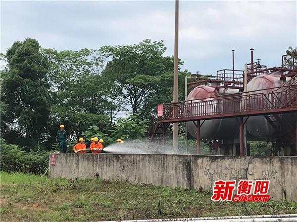 安全在身边:衡阳市开展液化气充气站泄漏事故抢险应急演练