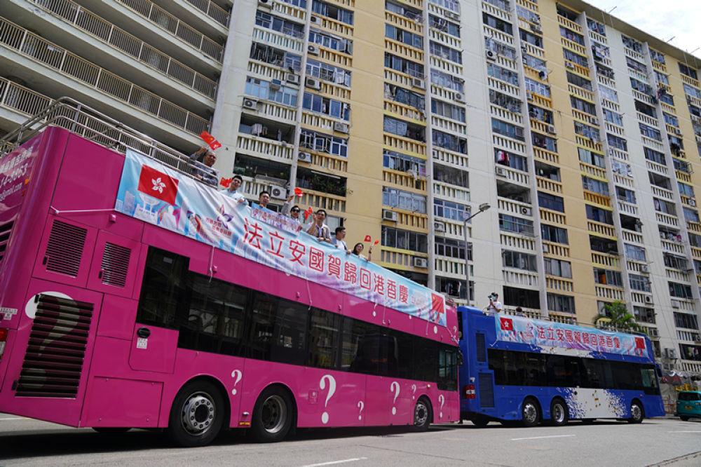 香港舉行盛大陸海巡游慶祝回歸祖國23周年